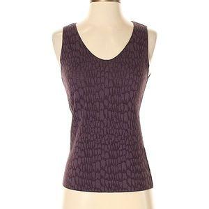 Armani Collezioni Dark Purple Woven Sleeveless Top